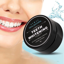 2pcs Teeth Whitening Powder Activated Charcoal Essence Oral Hygiene Deep Cleaning Removes Plaque Stains Bleaching Dental Tools