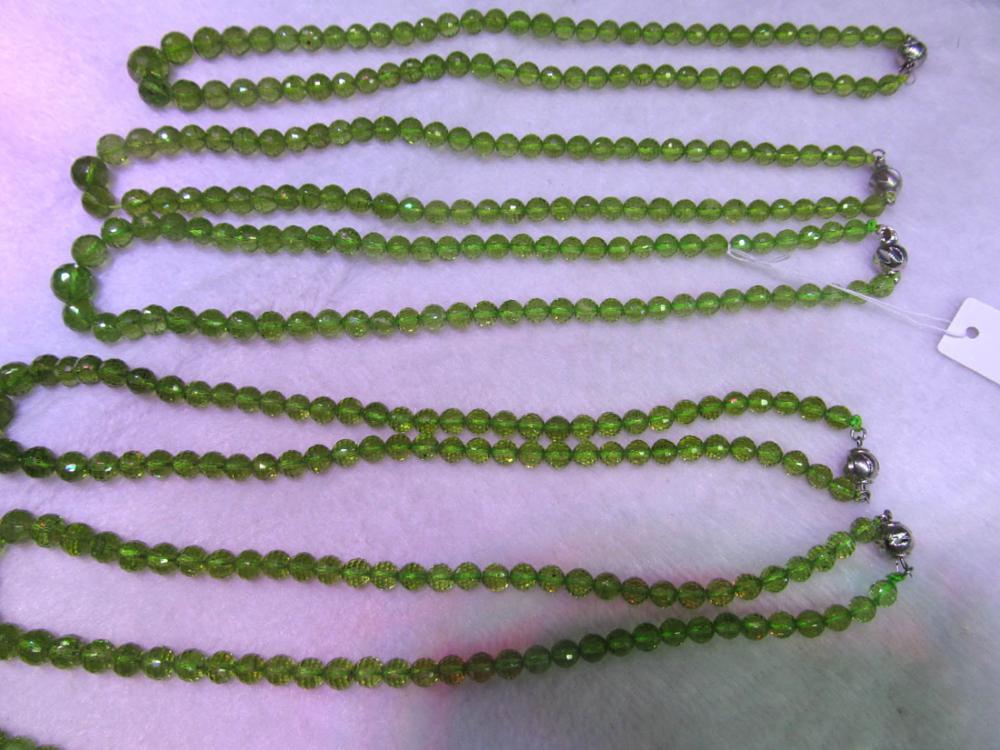 Collier de Briotettes péridot de qualité AA 100% boule ronde à facettes péridot pierre précieuse verte 6-10mm brin complet 17 pouces
