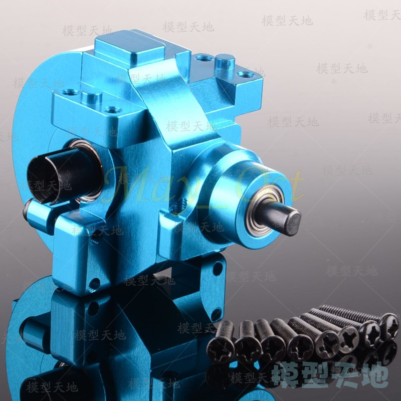 Aluminum Alloy Front & Rear Gear Box Complete Drive & Diff.Gear 02030 03015 02024 02051 102075 1/10 HSP 94122 94177 94188 hsp 02024 differential diff gear complete 38t for 1 10 rc model car spare parts fit buggy monster
