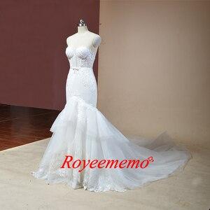 Image 3 - 2019 không tay mermaid lace wedding dress hot bán wedding gown tùy chỉnh thực hiện nhà máy bán buôn giá bridal dress