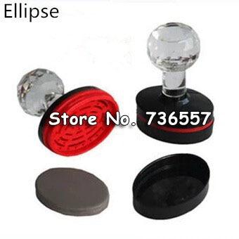 atacado 10 pcs alta qualidade fotossensivel oval circular shell selo elipse carimbo flash materiais 42mm d