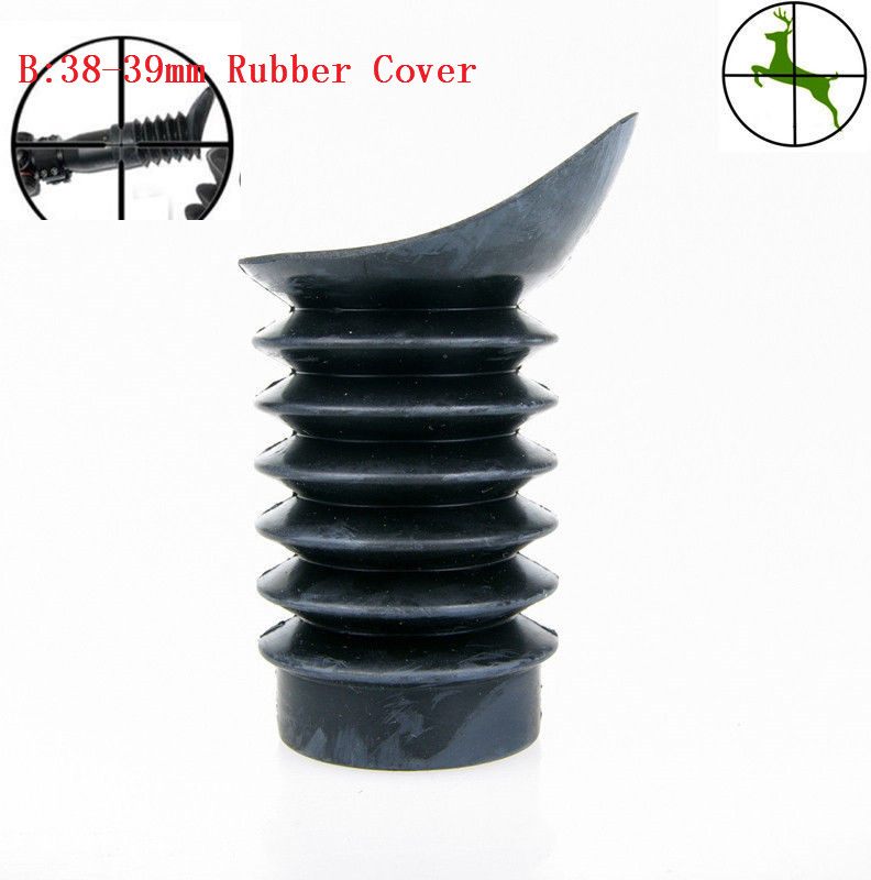 1pc Soft Rubber Cover 38-39mm 33-35mm Eye Protector For Rifle Scope Hunting Ocular Recoil Eye Cup Protector caza(China)