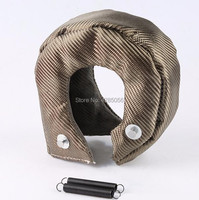 New T3 Lava Fiber Turbo Blanket Engine Heat Shield Barrier Titanium Turbocharger Cover Turbine House With Metal Mesh