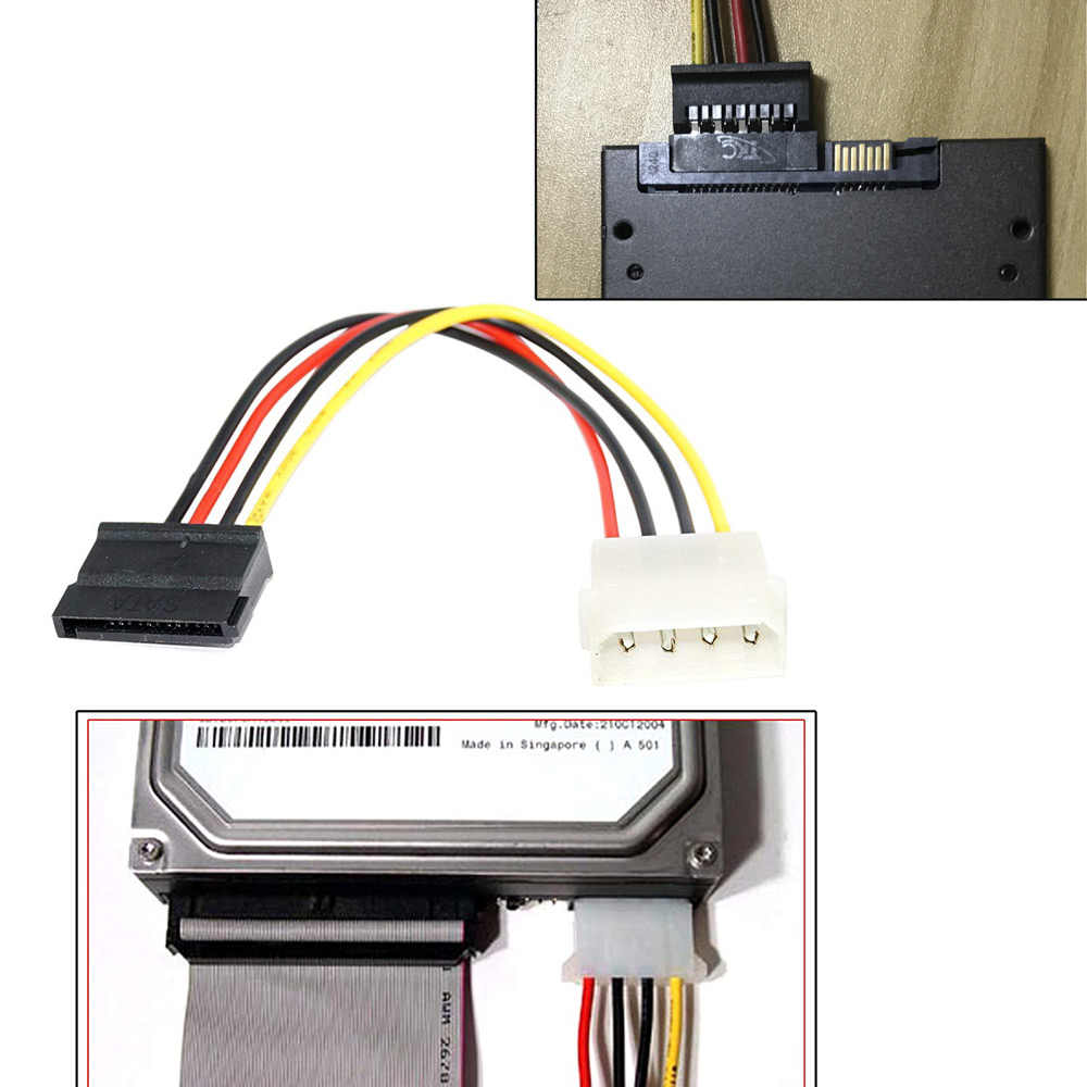 Ingelon Sata Power Cable Molexe Ide Serial Ata Power Adapter 4 Pin Naar 12 Pin Kabel Harde Schijf Sata naar Esata 6.9 Inch Ssd Kabel