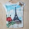 2015 verão nova Europa subiu torre T-shirt impressão solto por atacado vestido T T201502
