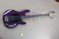 Оптовая продажа высокое качество 4 Strings Рэй Фиолетовый музыка человек бас электрический Гитары Бесплатная доставка 6 21