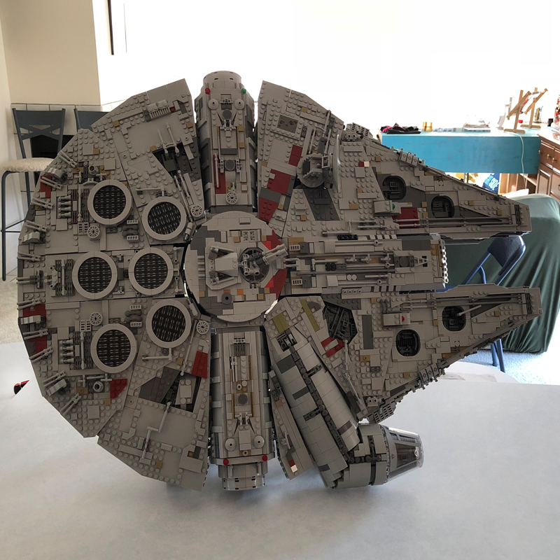 Image 2 - 407pcs Star MOC War Millennium toys Falcon Vertical Display Stand Compatible with 05132 75192 Ultimate Collector's Model-in Blocks from Toys & Hobbies