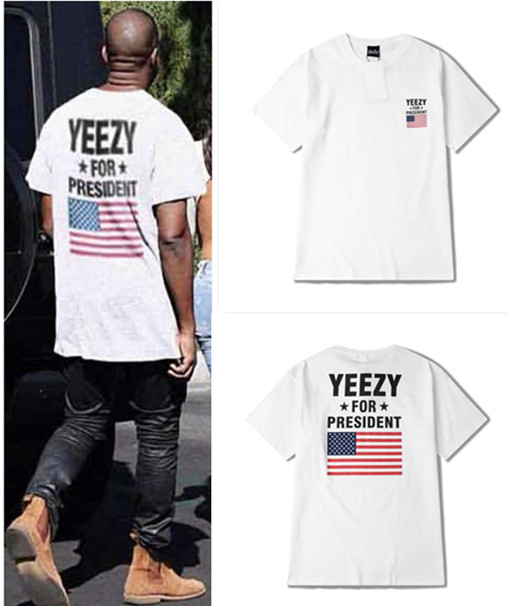 outlet store 26cf6 f1bc4 yeezy shirt men camiseta kanye west yeezus t shirt America flag president  Obama tshirt yeezys season 3 t shirt tee tops-in T-Shirts from Men s  Clothing on ...