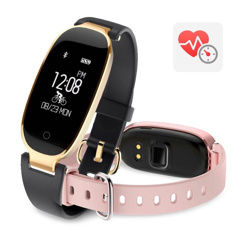 Довольно леди подгонять Умные браслеты рабочих фитнес калорий сердечного ритма Мониторы вибрации <font><b>bluetooth</b></font> push браслет VS Z18 D8