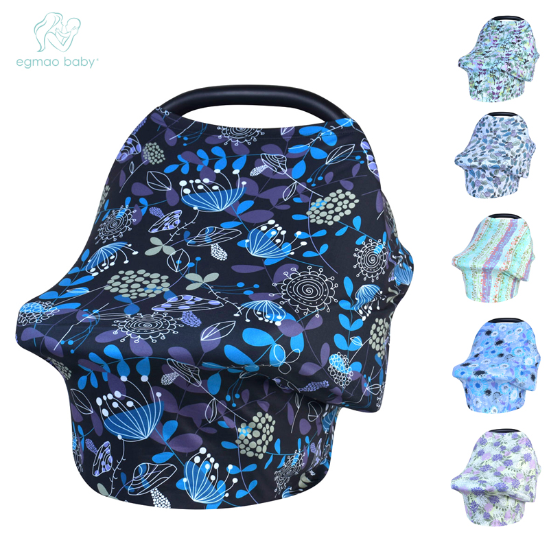 Nursing Cover Scarf for Mum Feeding Baby Car Seat Canopy Shopping Cart Cover for Babies Multifunction Cape for Breastfeeding