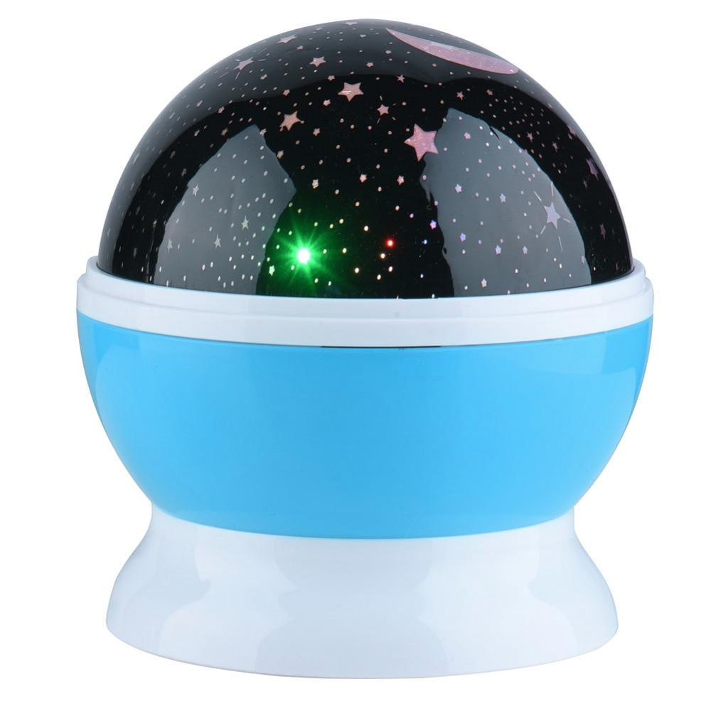 360 Degree Romantic Room Sun Star Lighting Lamp 4 LED Rotating Cosmos Star Projector Night Light