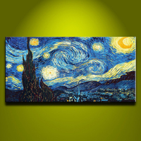 Handmade Single Impressionist Canvas Van Gogh Oil Painting Reproductions Wall Pictures For Living Room Modern Home Decoration