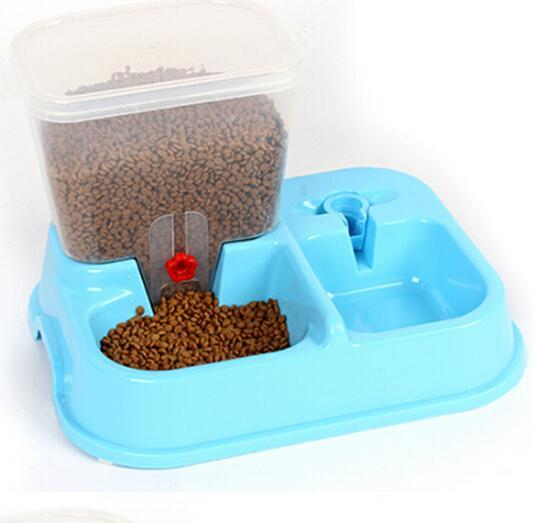 Fashionable Automatic Pet Dog Cat Drinking Feeder Adjustable Pets Cats Dogs Bowl Feeder Water Dispenser For Small Mediium Dog