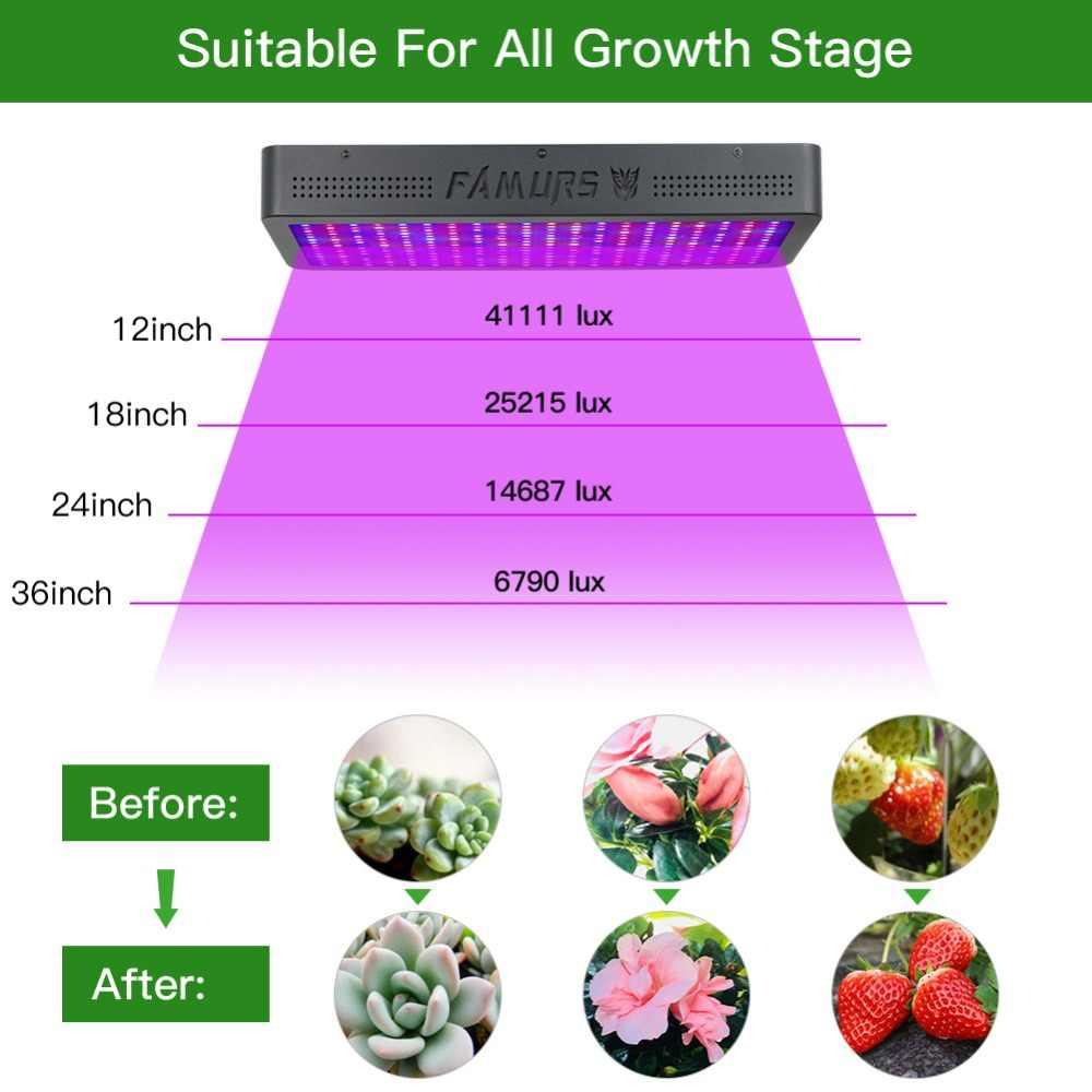 Famurs led grow light полный спектр с пультом дистанционного управления 3000 Вт Veg/Цветение таймер группа управления для комнатных растения парниковые growbox