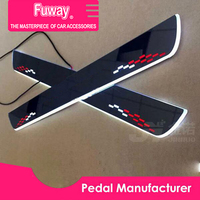 4pcs Car Led moving door scuff car pedal door sill plate steps light welcome pedal for Ford focus Mondeo Mustang Fiesta EVEREST