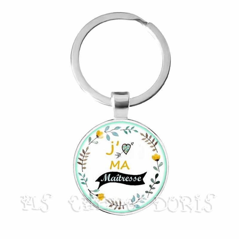 Fashion Teacher Gift Super Mistress Keychain Charm Thanks Mistress Jewlery Keyrings Jewelry For Gratitude Gift