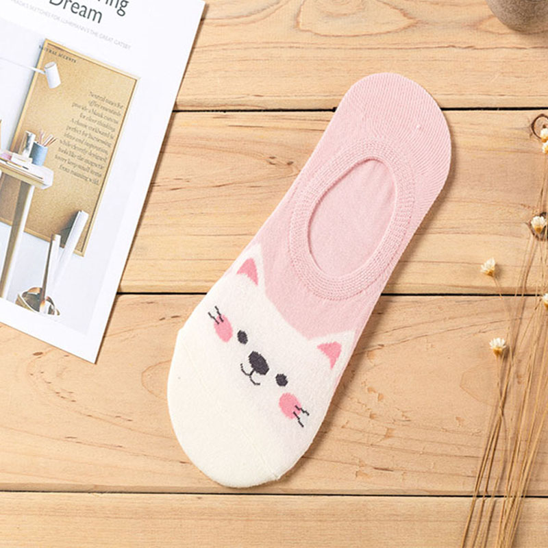 HTB1.71WQjTpK1RjSZKPq6y3UpXah - 5 Pairs/lot Women Socks Candy Color Small Animal Cartoon Pattern Boat Sock for Summer Breathable Casual Girls Funny Fashion