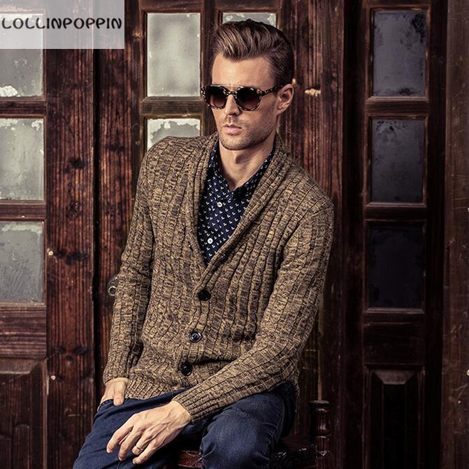 Mens Shawl Collar Cardigan Sweater Pattern Sweater Tunic