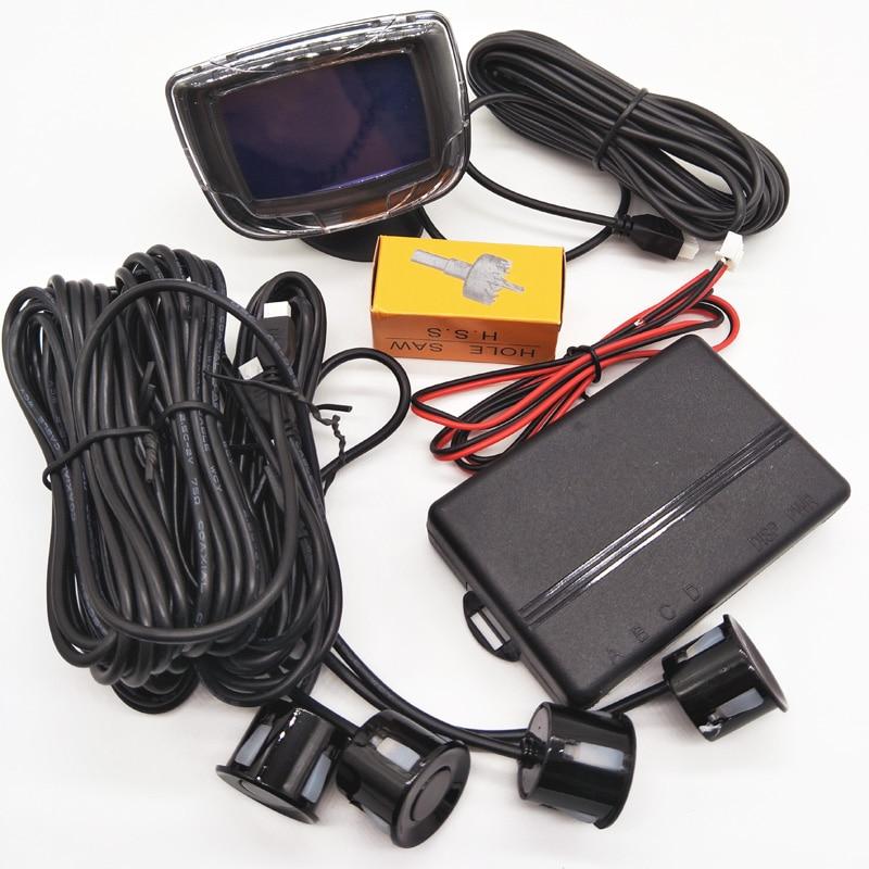 4 PCS 11 Colors 12V 4 Sensors 22mm Car Parking Sensor Reverse Backup Radar LCD Display  Buzzer Car Detector System for All Cars батарейку на lg kg 800