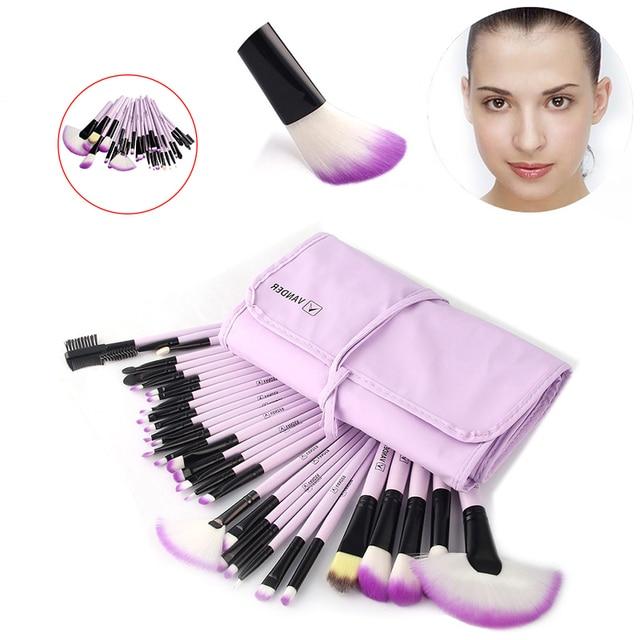 Vander 32Pcs Makeup Brushes Eye Shadows Lipstick Powder Foundation Brushes With Cosmetic Bag pincel Make Up Brushes Kits 2