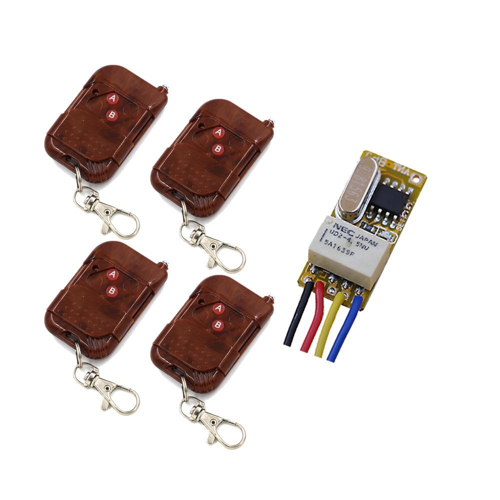 NewestSmall Relay Remote Control System 3.7V 4.5V 5V 6V 7.4V 9V 12V Miniature Receiver Normally Open Closed Common Subminiature normally open single phase solid state relay ssr mgr 1 d48120 120a control dc ac 24 480v
