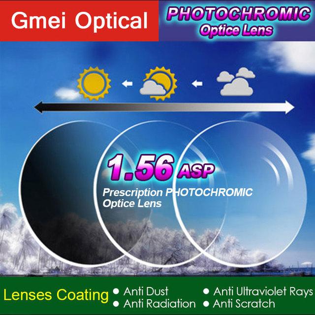 1.56 Lentes Fotosensibles Ópticos Gafas Graduadas Monofocales con Cambio de Color Rápido Rendimiento