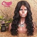 8A Virgen Brasileña Del Pelo Humano de densidad Completa pelucas Peluca Llena Del Cordón Natural de la rayita del pelo del bebé Del Frente Del Cordón Peluca Pegamento menos Peluca
