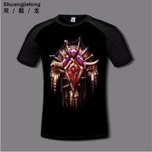 Quality Digital Print WOW Horde T-shirt Flexible cotton Anime T-shirts Casual gamer Clothing Alliance short sleeve fashion shirt
