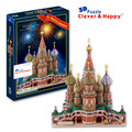 2014 new clever&happy land 3d puzzle model Vasile Assumption Cathedral large adult puzzle model games for children paper