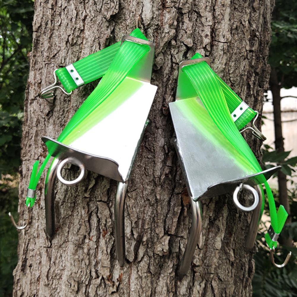 New Tree Climbing Safe Tool Pole Climbing Spikes For Hunting Observation Picking Fruit 304 Stainless Steel Climbing Tree Shoes|Climbing Accessories| |  - title=