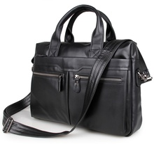 купить Free Shipping JMD Vintage Leather Men's Black Briefcase Laptop Bag Messenger Handbag Hot Selling #7122A недорого