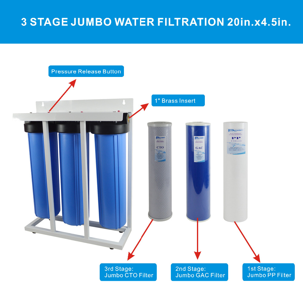 House Water Filter Three Stage Big Blue Whole House Water Filtration System 1