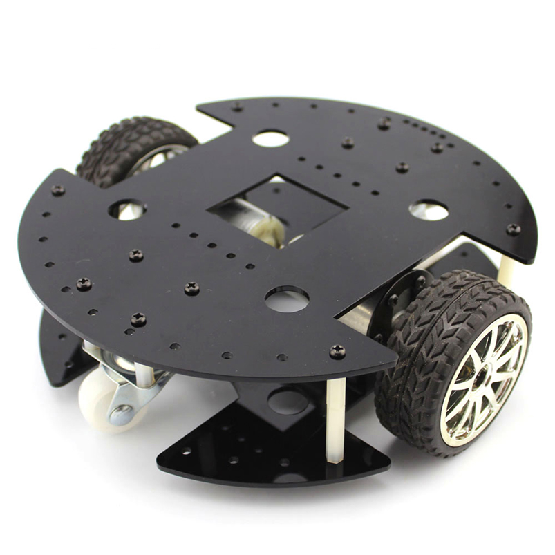 Two-drive Type 37B280 2WD Intelligent Car 37GB Gear Motor Robot 200mm Acrylic Plate Chassis Model DIY Toy Accessories diy toy car j473b model 7575 n20 gear motor intelligent model car diy assemble small car technology making free shipping russia