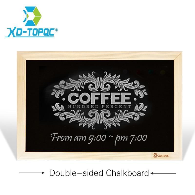 Wood Magnetic BlackBoard Double Face Dry Wipe Chalkboard Writing Board Office Supplier 20*30cm 10 Colors Factory Direct Sell