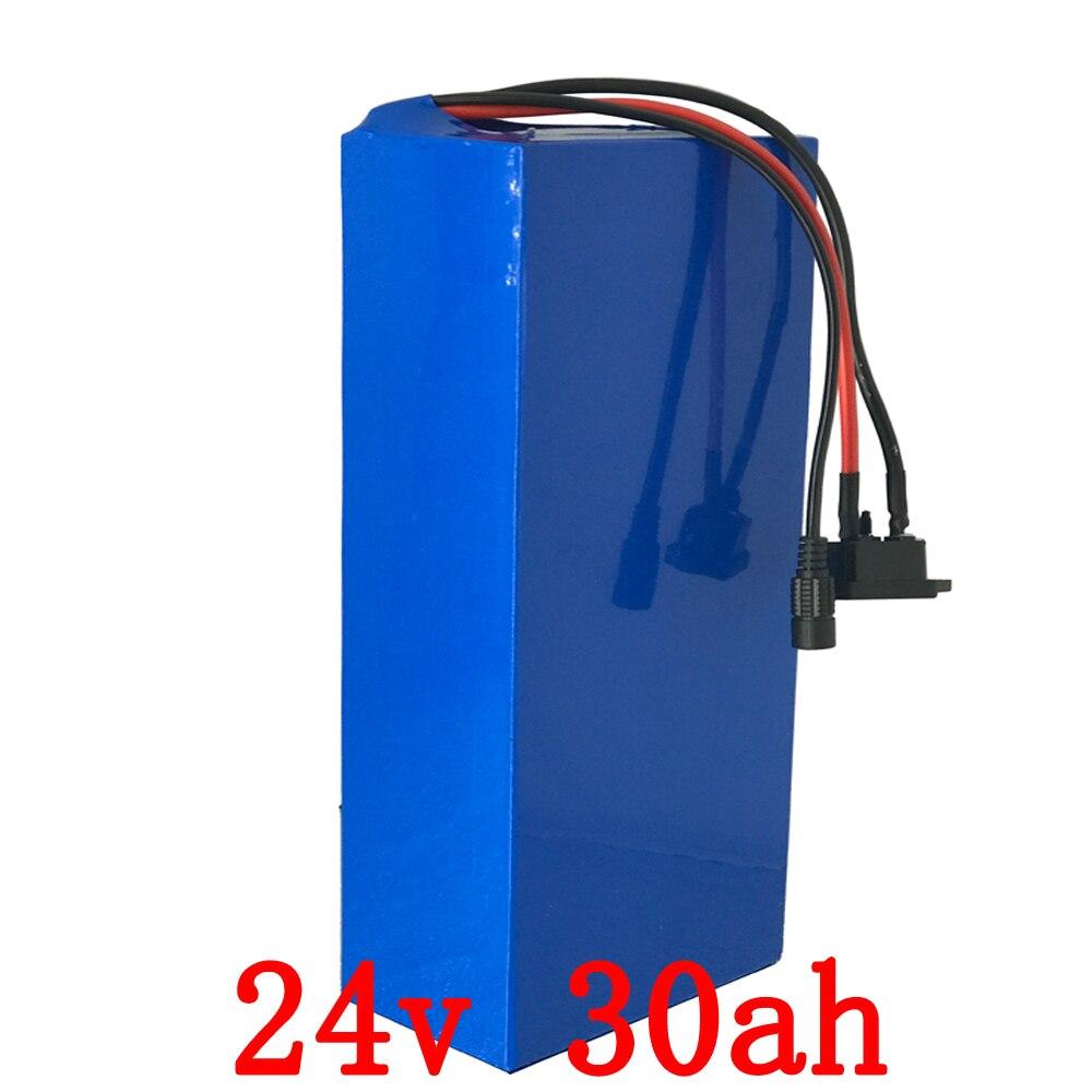 Livraison des douanes Livraison 24V30Ah Li Ion Batterie Pour 24 Volts 700 W 500 W 350 W Moteur avec 30A BMS et chargeur livraison
