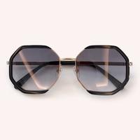New Polygon Sunglasses Women Retro Brand Designer Classic Sun Glasses For women Luxury Ladies Sunglasses Mirror Female Oculos