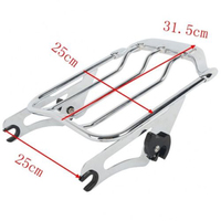Air Wing Detachables Two Up Luggage Rack For Harley Street Glide Road King 09 18