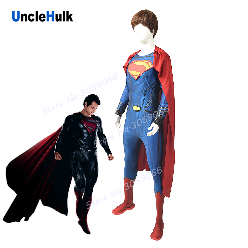 Justice League Superman Henry Cavill Silk Printing Superior Quality Costume Spandex Lycra Cosplay Costume - No.16 | UncleHulk