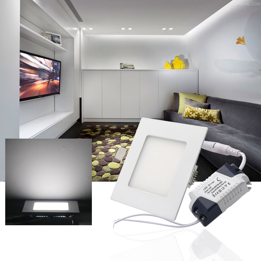 6W9W12W15W21W Square LED Panel Lights Ceiling Lamps led lamp downlight indoor lighting WarmCold White AC85-265V