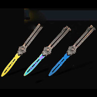 Butterfly Knife Pocket Folding Knife Practice Cool Balisong Black Widow EDC Tool Spider Luxury Gift Package
