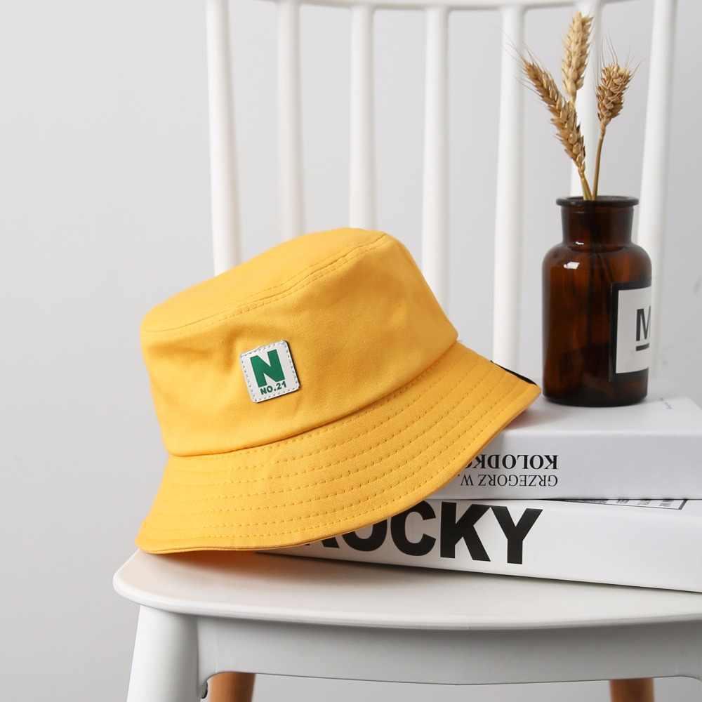 ee6b6cda ... 2018 Letter NO.21 Bucket Hat Men Women Outer Street Hip Hop Hat  Fisherman Hats ...