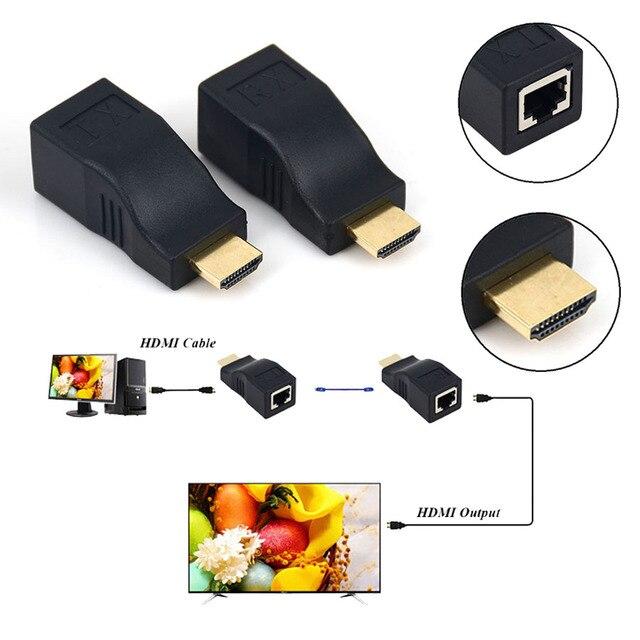 HDMI Extender Transmiter повторить 1080 P HDMI до 30 М Над CAT6 RJ45 Ethernet Кабель Поддержка HDCP для HDTV монитор Проектор