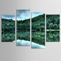 4 modern canvas print landscape landscape reflected printing painting mural art canvas living room decoration painting