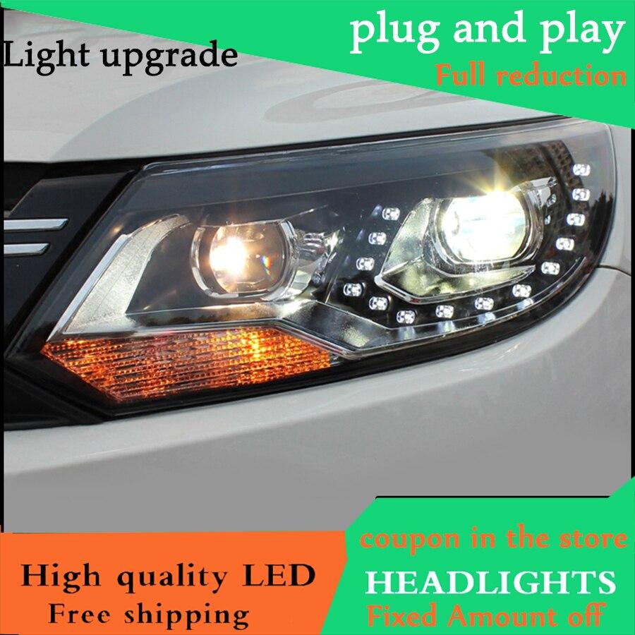 Car Style Head Lamp Case For VW Tiguan headlights 2013 2014 2015 LED Headlight DRL HID