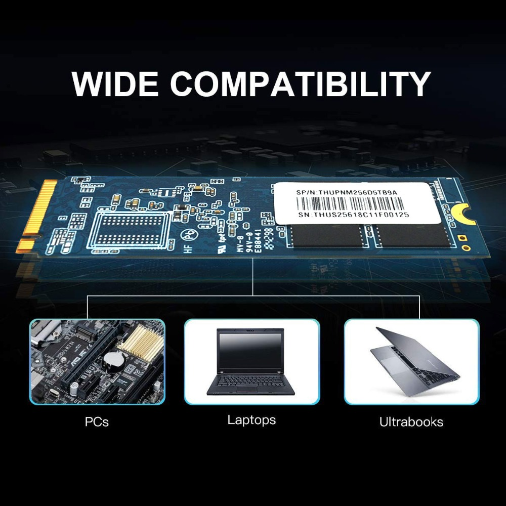 Image 5 - M.2 2280 Накопитель SSD с протоколом NVMe PCIe 256 ГБ 512 1 ТБ 2 ТБ Накопитель SSD с протоколом NVMe NGFF M.2 2280 PCIe NVMe TLC Внутренний твердотельный накопитель SSD жесткий диск для ноутбука, настольного компьютера-in Внутренние твердотельные накопители from Компьютер и офис
