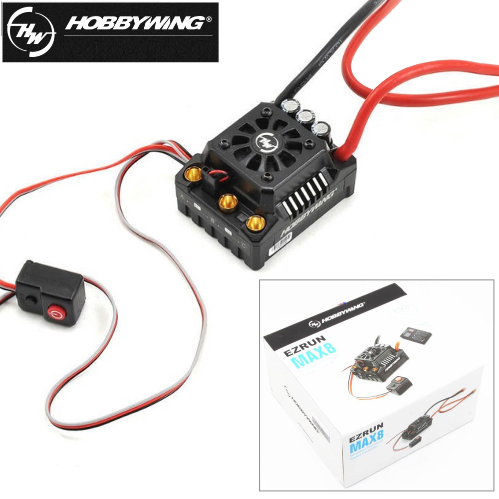 1pcs Hobbywing EZRUN Max8 V3 150A Waterproof Brushless ESC TRX plug/T plug For RC 1/8 Traxxas E-REVO Traxxas RC car hobbywing ezrun max8 150a esc waterproof wp brushless speed controller for rc 1 8 car with t plug
