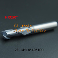 HRC50 2F 14*14*40*100 Alloy Carbide Milling Tungsten Steel Milling Cutter End Mill coating:nano,The Lather,boring Bar,machine