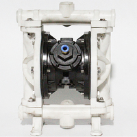 PP / PVDF Plastic Air operated Pneumatic diaphragm pump QBK 15 Max flow rate: 20L/min Diaphragm Pump For Corrosive Resistance