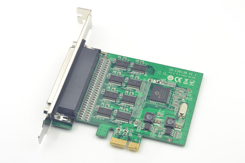 8Port RS232 Serial PCI-Express Card 15kV ESD Protection 921K High Speed Transfer 4 port serial rs232 rs 232 com port to pci e express pcie adapter with cable 9904 chip