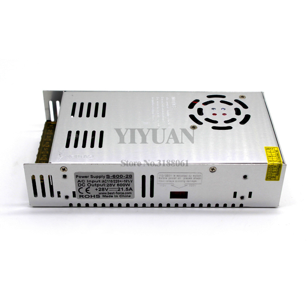 Single Output Switching power supply 600W 28V 21.5A Driver ...